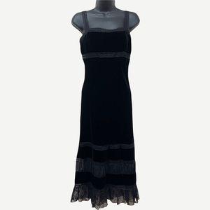 LAUNDRY by SHELLI SEGAL Black Velvet Slip Dress
